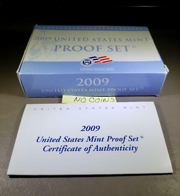 2009-S Us Proof Set Original Box & Coa - Four (4) Available No Coins Included