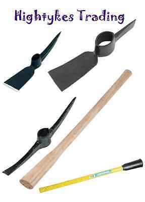 Pick Axe Head - Grubbing mattock - pick mattock - wood or fibreglass handle