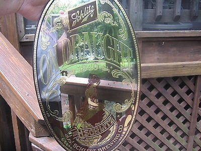 Vintage Antique-Style Schlitz Beer Mirror