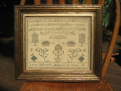 Antique Early/Mid-19th Century Sampler dated August 31, 1840