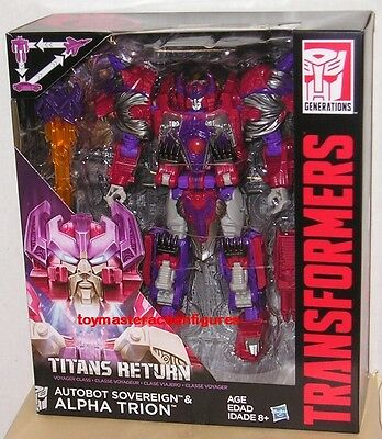 TRANSFORMERS GENERATIONS TITANS RETURN ALPHA TRION VOYAGER CLASS In Stock