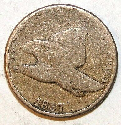 1857 Flying Eagle Penny, Good Condition A3