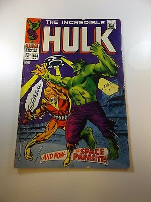 Incredible Hulk #103 GD/VG condition Huge auction going on now!