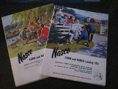 2 Vtg Nasco Farm & Ranch 1950s Catalog 1950s Western Dairy Supplies County Fair