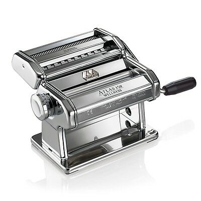 Marcato Atlas Pasta Machine Made in Italy Stainless Steel Includes Pasta Cutt...