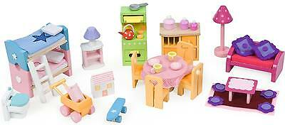 Le Toy Van Deluxe Starter Furniture Set Wooden Doll House  BNIB