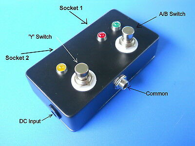 ABY Routing Footswitch A/B/Y with LEDs. Quality Jacks. Metal box. Prof. Audio