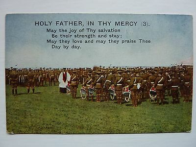 Song Card Holy Father In Thy Mercy (3) Vintage Bamforth Printed Postcard