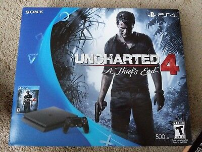 PlayStation 4 Slim 500GB Console - Uncharted 4 Bundle,Brand New