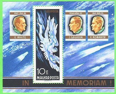 Hungary 1968 In memory of the Astronauts S/S MNH