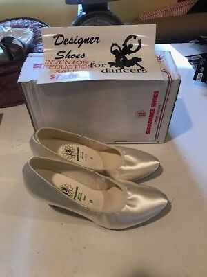 Supadance Ballroom shoes flesh white/ivory satin NEW in box RARE sale Size 6