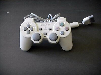 Official Sony PlayStation 1 PSOne Controller White Dualshock RARE