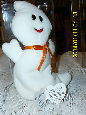 "Ty Beanie Babies Collection ""spooky"" Style #  4090 The Ghost Halloween Free Ship"