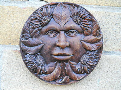 Latex mould of Green Man wall plaque