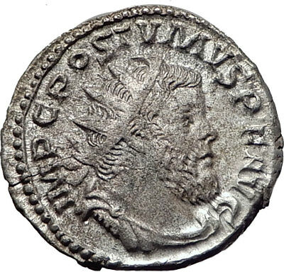 POSTUMUS  260AD Silver Authentic Genuine Ancient Roman Coin Victory i65351