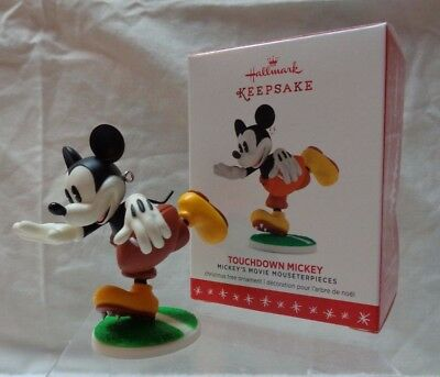 Hallmark Ornament 5Th In Series Mickey's Movie- 2016- Touchdown Mickey-Disney