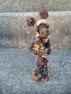 BOYDS BEARS folkstones PRUDENCE MOOSELMAID THE PILGRIM--THANKSGIVING