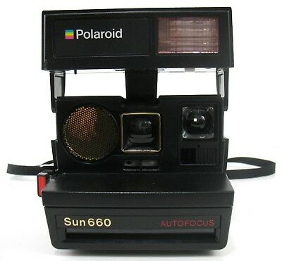 Polaroid - Sun 660 Autofocus Instant Camera - With Strap - Partially Tested