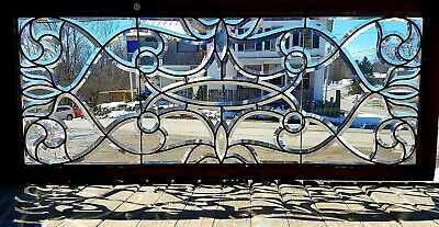 Fancy Swirl Design Victorian Beveled Glass Window