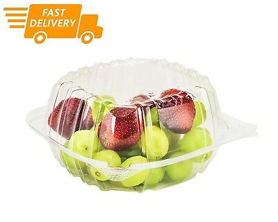 "Dart 5"" Clear Hinged Plastic Food Take Out To-Go / Clamshell Container 100 Pack"