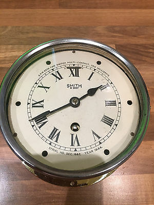 """Rare Solid Brass Ships WWII """"ZIGZAG"""" Clock Nautical Maritime Royal Navy Convoy"""