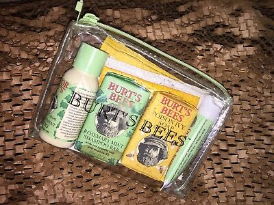 NEW PRODUCTS, Burt's Bees Natural Remedy Kit Set of 5 w/ bag, See Description