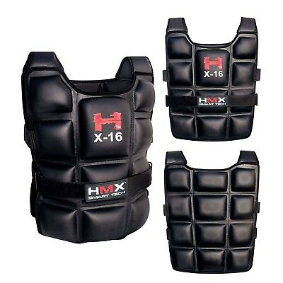 16 Kg Weighted Vest Weight Crossfit Training Mma Gym Sport Running Exercise New