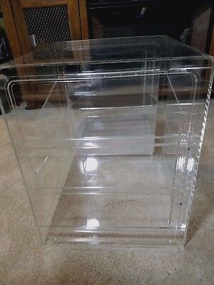 3 Tray Counter Display Case Bakery Front/Rear Door with Mirrored back.