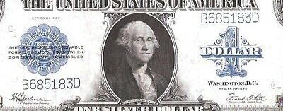 Rare 6 Digit Serial Number Silver Certificate 1923 $1 Large Currency Note Fr 237