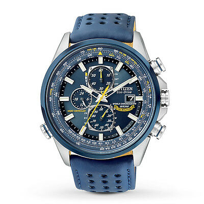 Citizen Watch - Mens Eco-Drive Blue Angels World Chronograph A-T - AT8020-03L