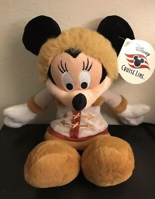 "2016 Disney Cruise Line Alaska Minnie Mouse 12"" Plush - With Original Tags"