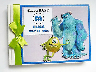 Personalised Monsters Inc First/1St Birthday Guest Book Any Design