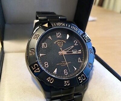 Swiss Tradition Men's Watch (Black) NWT, Display Box and Warranty Included