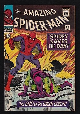 THE AMAZING SPIDER-MAN #40 (Marvel 9/1966) ORIGIN of THE GREEN GOBLIN! Stan Lee