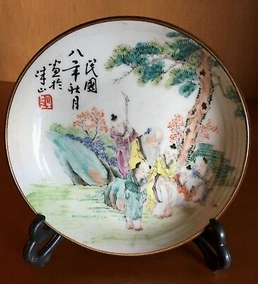 Chinese porcelain decoration plate good Christmas gift