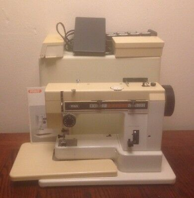 Vintage Pfaff 807 Hobbymatic Sewing Machine Foot Pedal CASE AND MANUAL