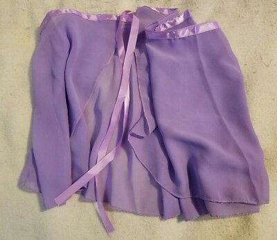 See-Thru Sheer Dance Wrap 39 inches Waist 14 inches Long with Ribbon Tie Closure