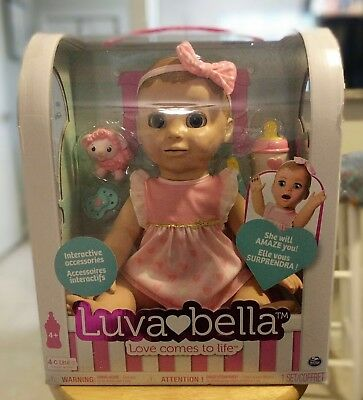 Luvabella Blonde Interactive Doll Spinmaster Brand New in Sealed Box IN HAND