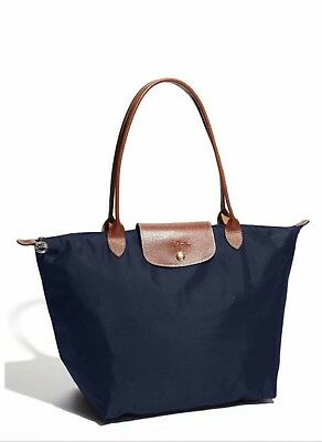 Longchamp New Le Pliage Navy Blue NylonTote Handbag Large Authentic From France