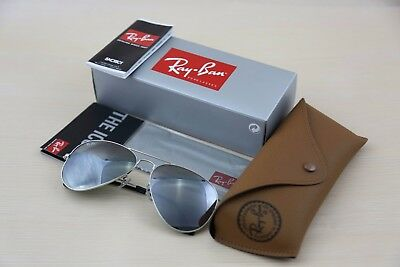 Authentic RAY BAN Silver Mirrored Sunglasses  RB 3025 W3277  - 58mm