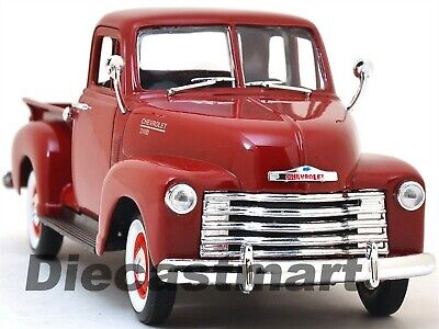 1953 Chevrolet 3100 Pick Up Truck Red 1:24 Diecast Model Car By Welly 22087