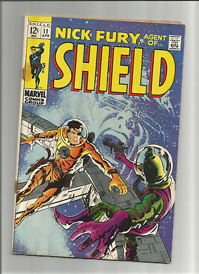 Nick Fury, Agent Of Shield #11 {Apr 1969 Marvel} Water Damage, No Odor! Vg/vg-!