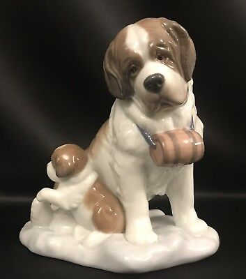 "~VERY ADORABLE~Lladro ""Baby-Sitting"" Dogs/St. Bernards (8170 Mint Condition)"