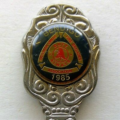 Victorian Urban Fire Brigades Assoc. Bendigo 1985 Souvenir Spoon Teaspoon (T118)