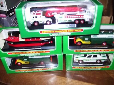 Hess Mini Miniature Trucks Lot Of  5
