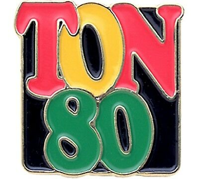 "Darts Badges Collection-Metal "" Ton 80 !! """