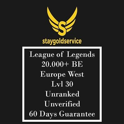 LoL Account League of Legends  | EUW | Level 30 | 20.000+ BE | 20k+ | Unranked