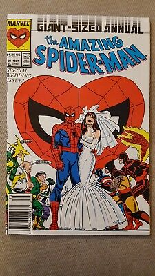 Amazing Spider-Man Annual #21, (Marvel, 1987) Special Wedding Issue Mary Jane