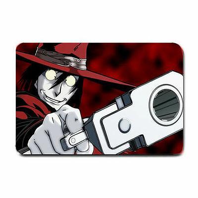 Hellsing with sunglasses on soft topping Fabric vibrant colors play mat
