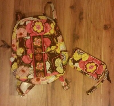 Vera Bradley Mini Backpack and Wristlet 2 piece lot Pre-owned